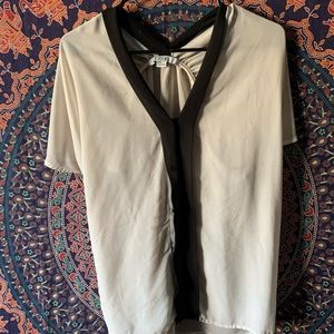 Sheer Black and Cream Blouse